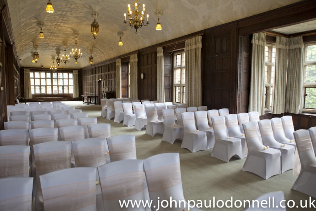 Wedding at Fanhams Hall Long Gallery
