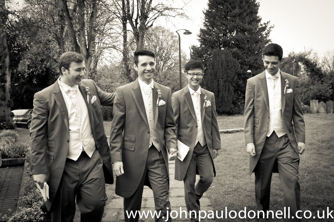 Groomsmen Arrive At St Pauls Church Hoddesdon