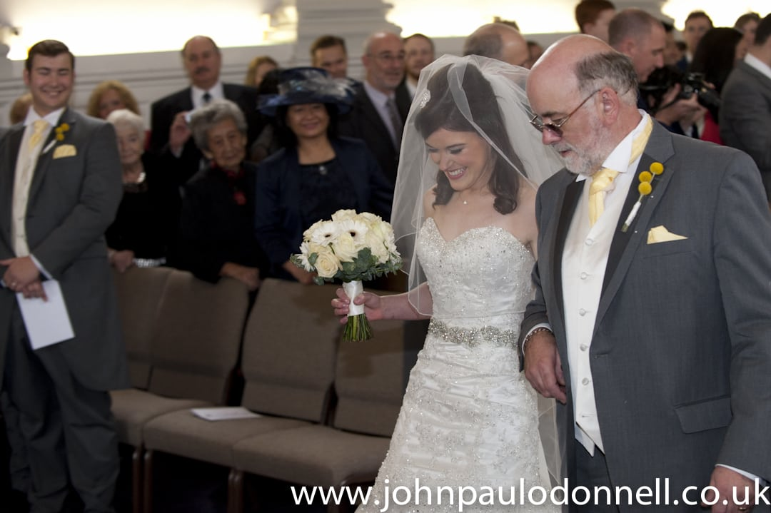 St Pauls Church Hoddesdon Bride and Dad