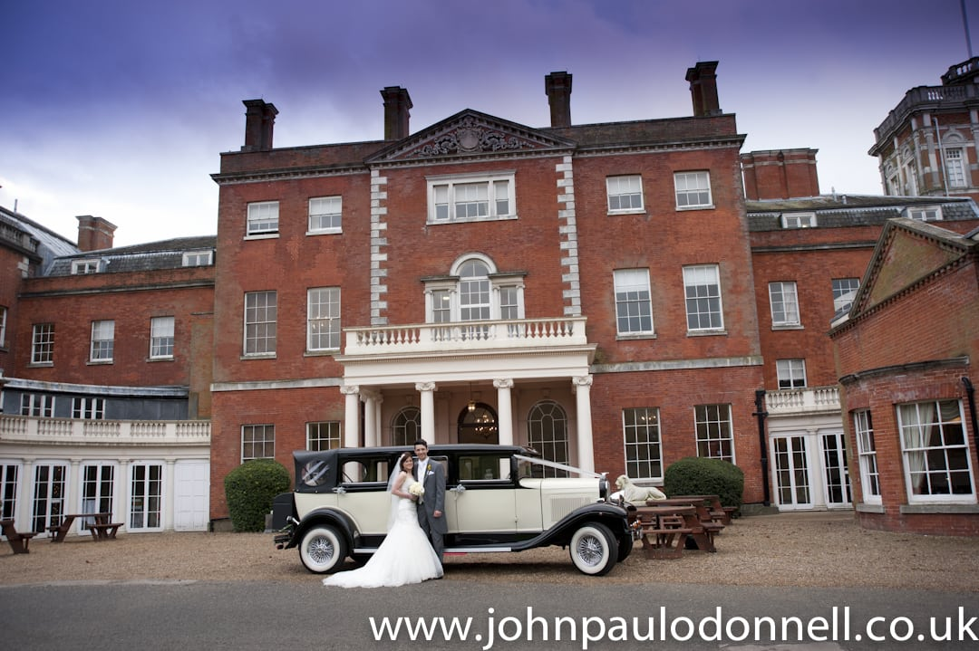 Wedding Cars Arrive Theobalds Park
