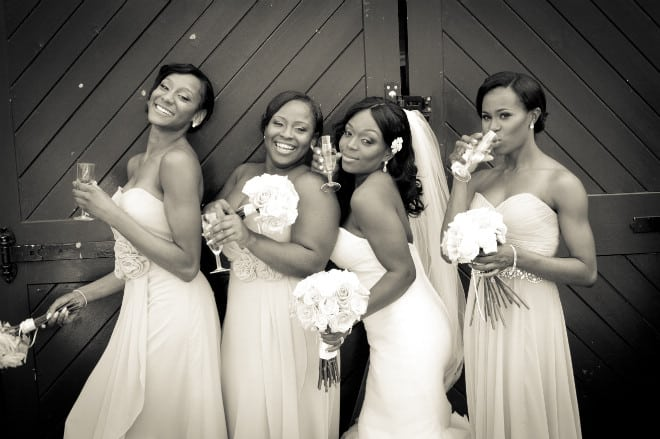 Bride and bridesmaids at the wedding. John Paul ODonnell Photography Hertfordshire