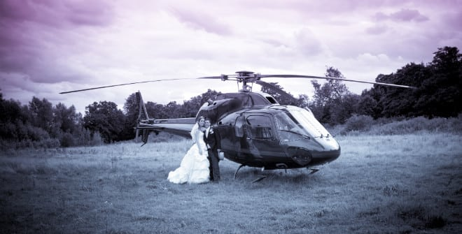 Helicopter wedding. John Paul ODonnell Photography Hertfordshire