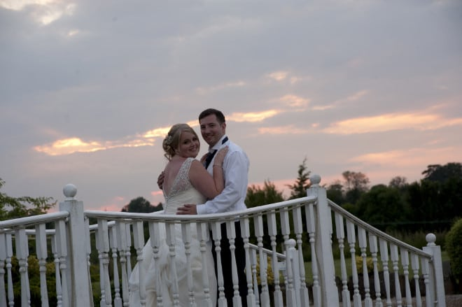 Bride and Groom on the bridge at the wedding. John Paul ODonnell Photography Hertfordshire