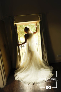 Bride in a silouhette against the window