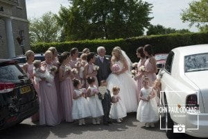 This is a photograph of the Arrival of Bride and Bridesmaids at The Wedding Venue