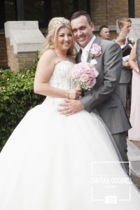This is a picture of a Bride and Groom taken at Essex Venue Prince Regent in Chigwell