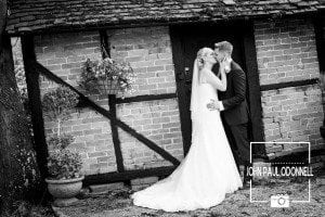 Couple Kissing at Newland Hall