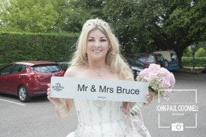 This is a picture of Mrs Bruce The Bride taken at Prince Regent Chigwell
