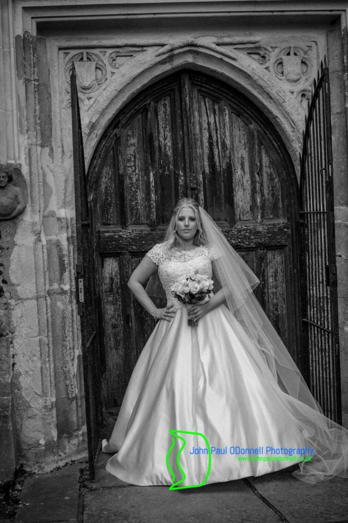 25 bride outside the church door