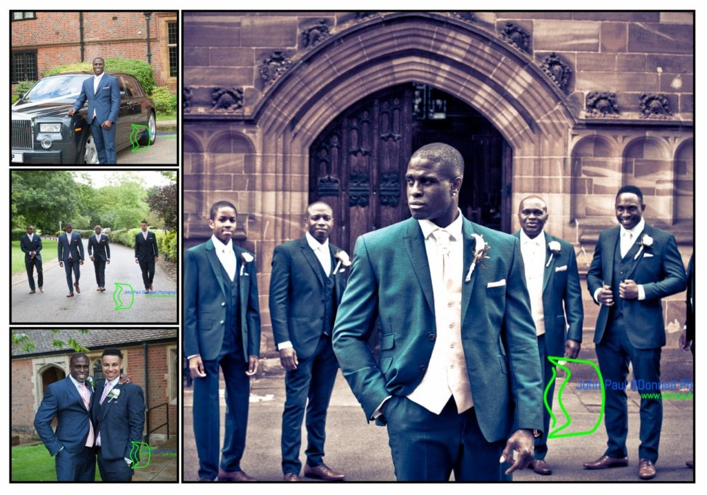 Groom arriving at the church on his Wedding day. Image taken at All Saints Church Hertford Image by John Paul ODonnell