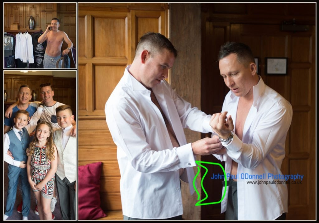 This is an image of the groom and groomsmen getting ready