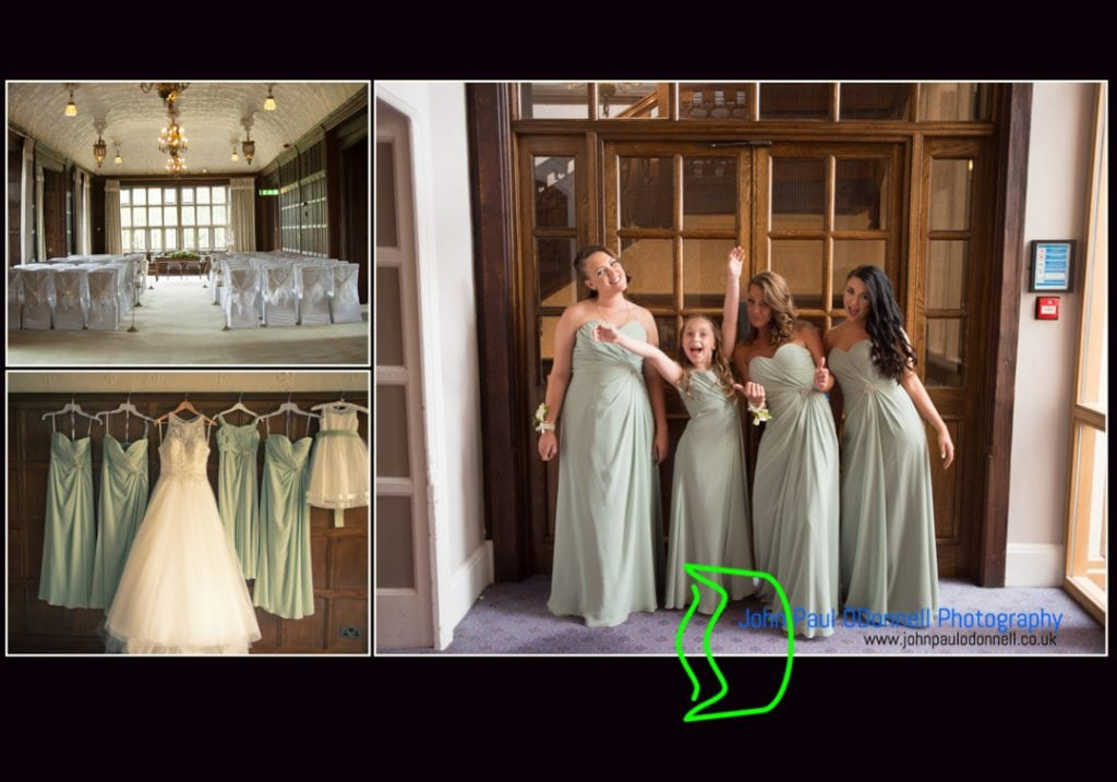 This is an image of the Long Gallery and bridesmaids at the hotel