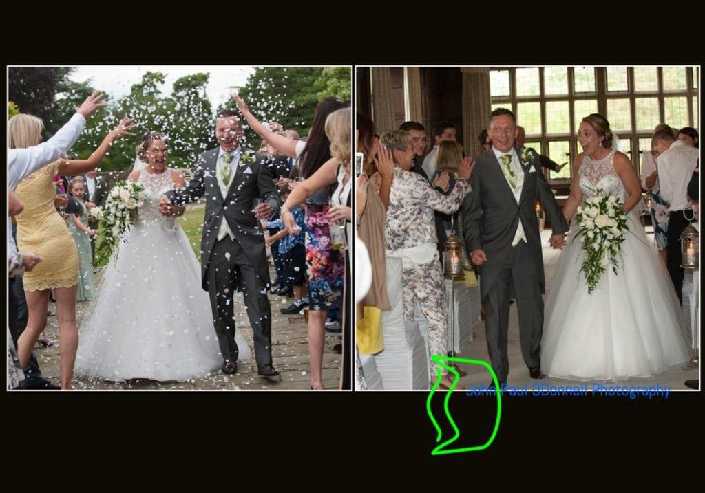 The bride and groom confetti shot