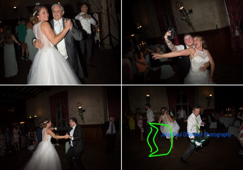 This is a picture of some fun wedding dancing