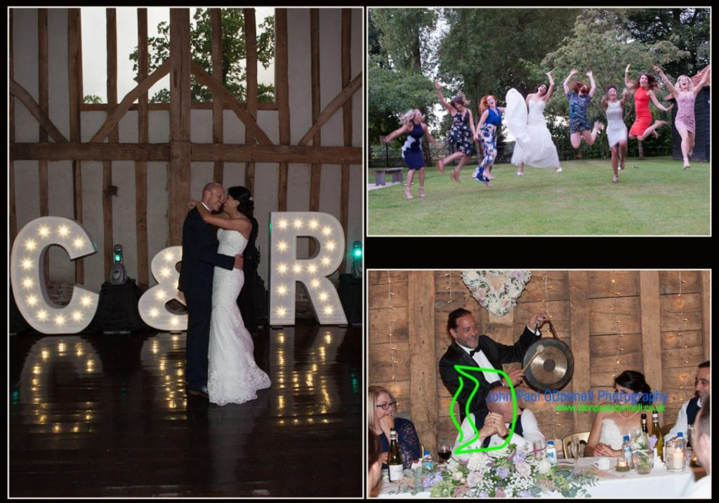 image of the bride and grooms first dance at Blake Hall