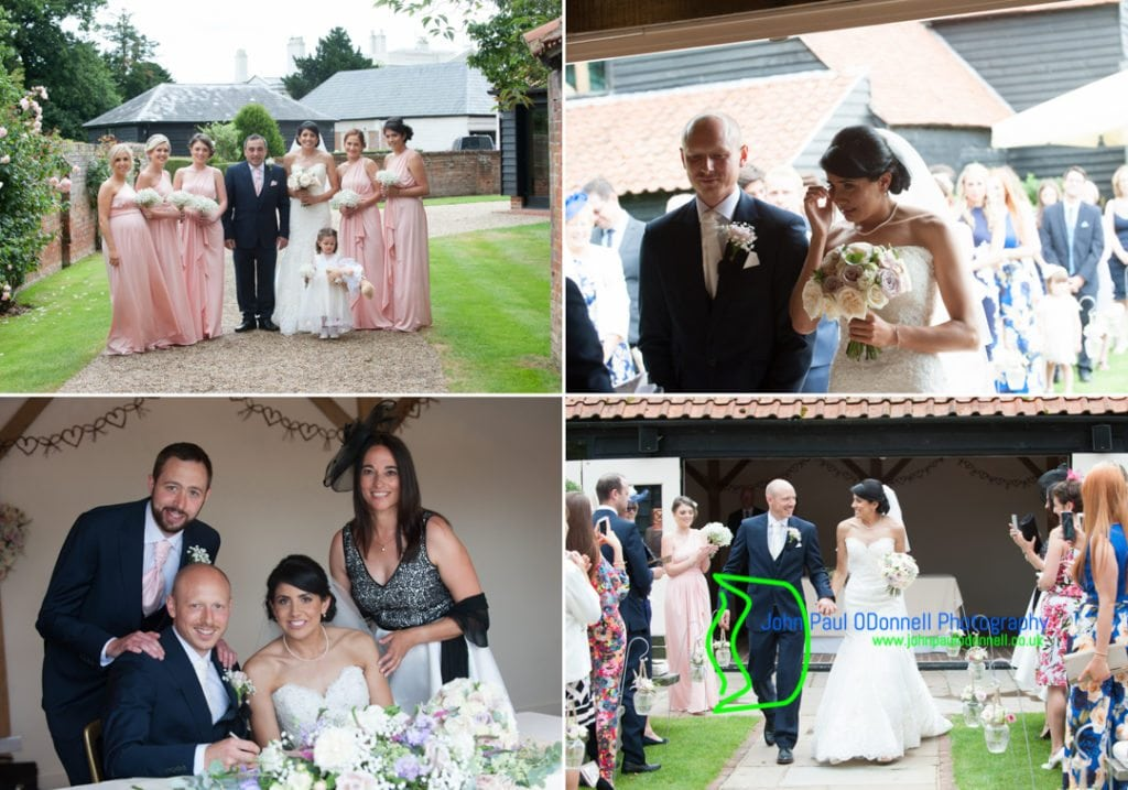 Pictures of the civil ceremony at Blake Hall