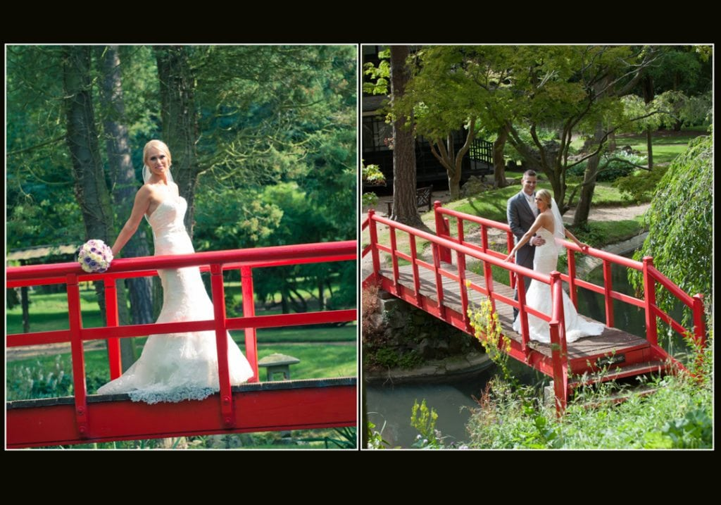 This is a image is of the bride on the red bridge
