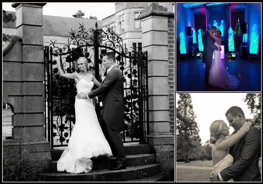 This is a image is of the bride and groom and is taken by the gates
