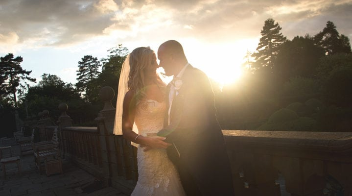 Sunset Wedding at Fanhams Hall