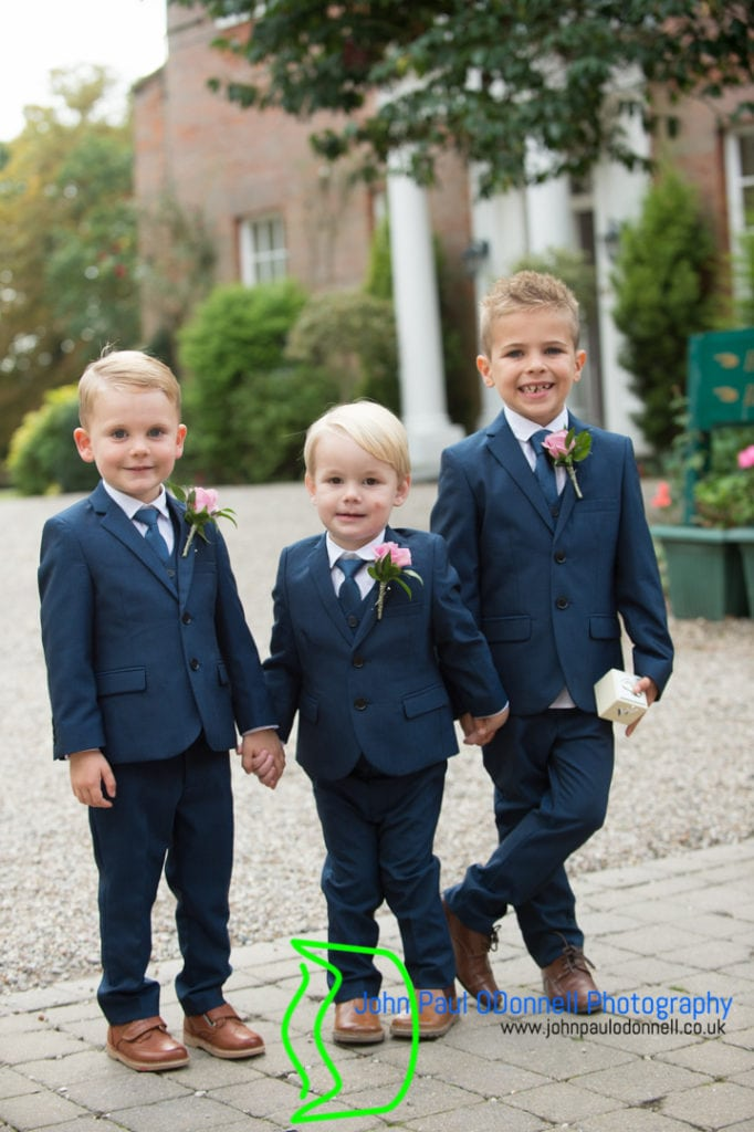 Pageboys before the ceremony at mulberry house