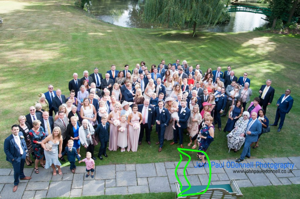 All the guests in one picture taken at mulberry house ongar essex