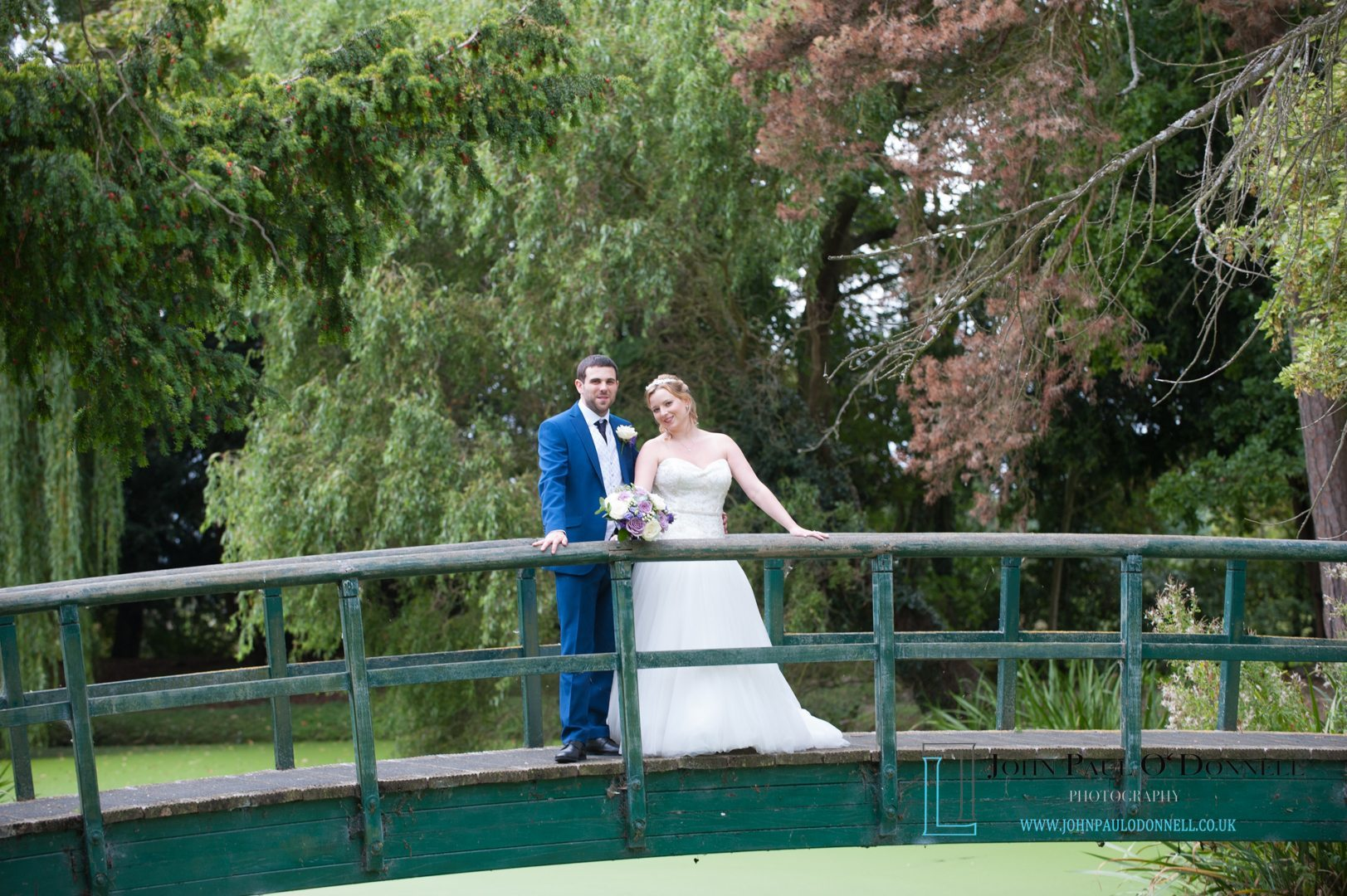 wedding of aimee and mick at fanhams hall