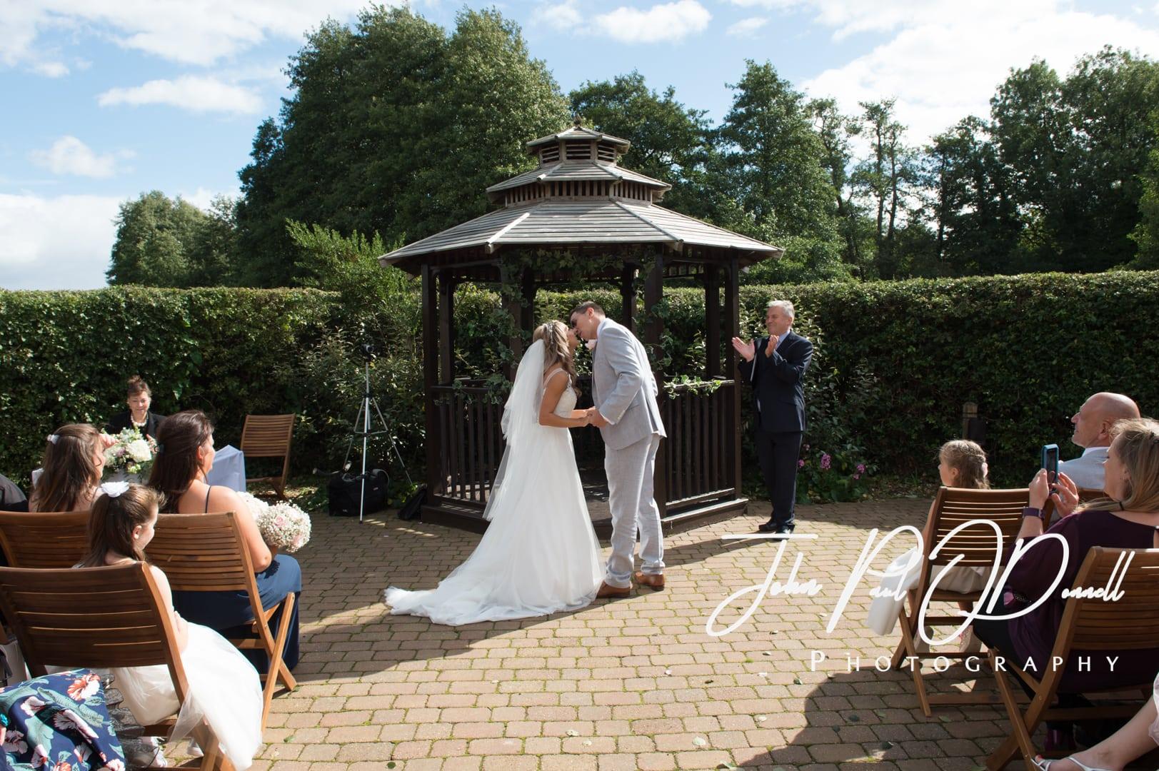 Francesca and Taylors wedding at Tewin Bury Farm