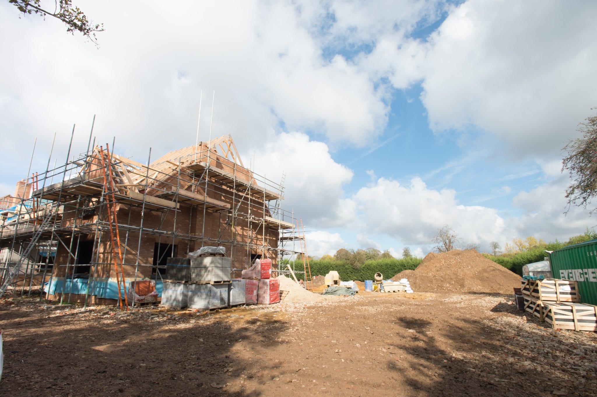 New Build Property Development Progress Photography