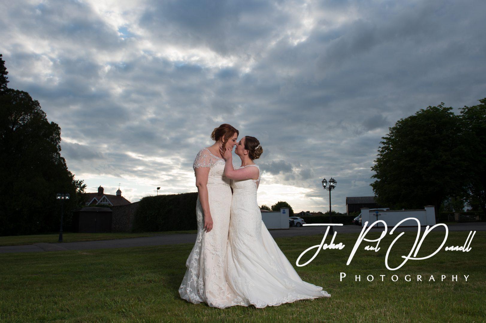 Danielle and Rebeccas wedding at Swynford Manor