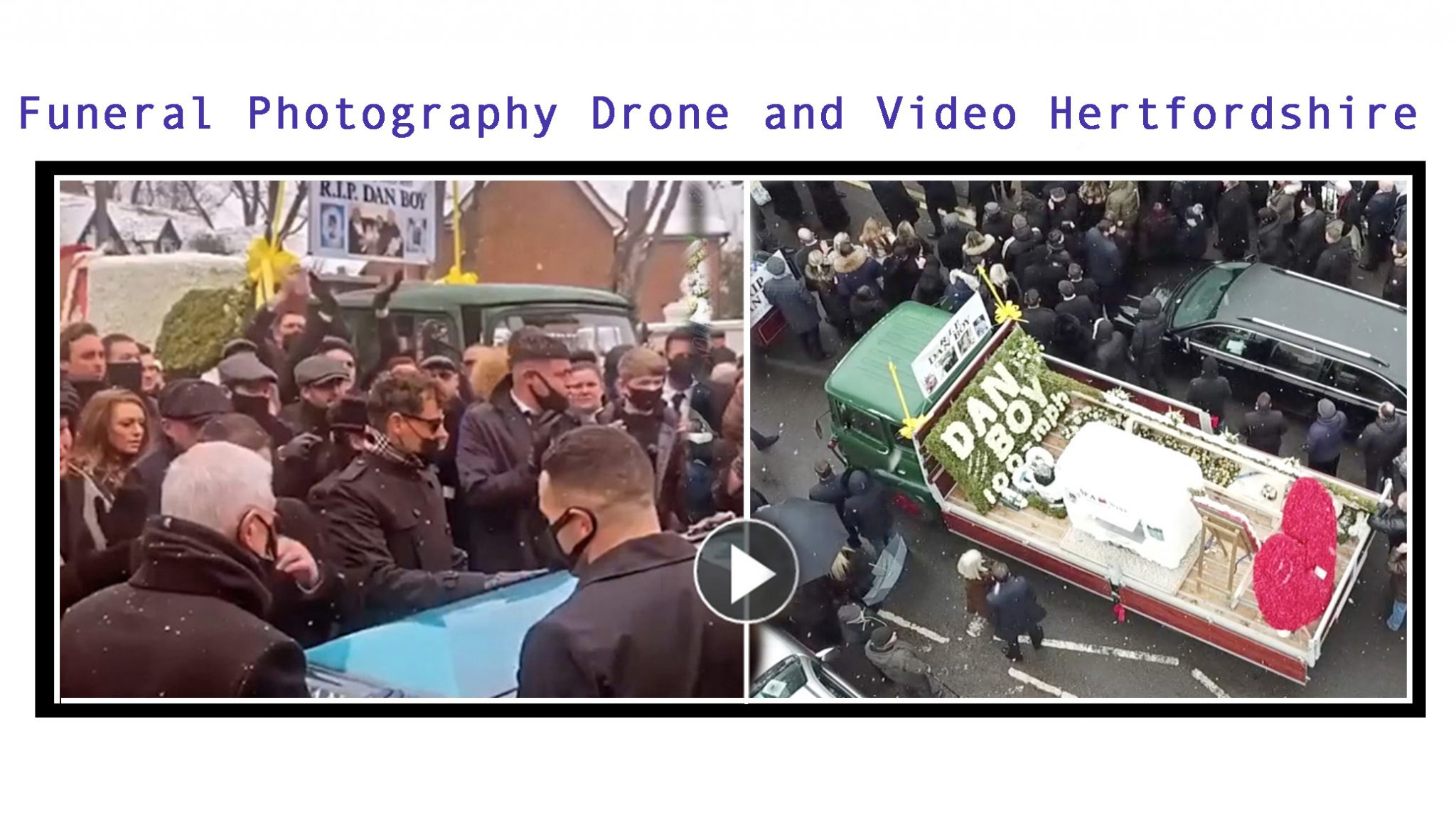 Funeral Photography Drone and Video Hertfordshire