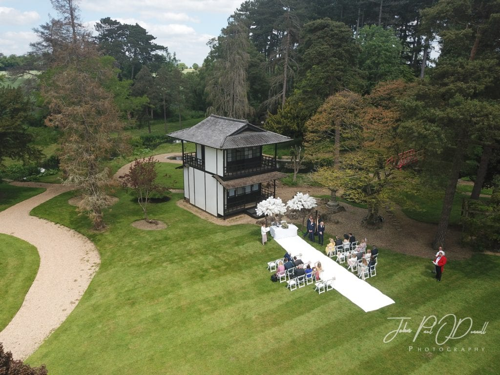 Lucy and Gareths wedding   Japanese Tea House at Fanhams Hall