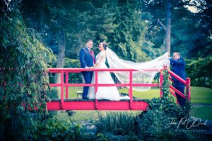Bride and Groom Wedding at Fanhams Hall